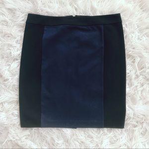 • Club Monaco • ColorBlock Mini Skirt 12 Black